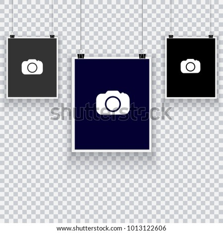Collection Hanging Photo Frames Frames Instant Stock Vector (Royalty ...