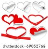 Collection of hearts. Vector illustration - stock vector