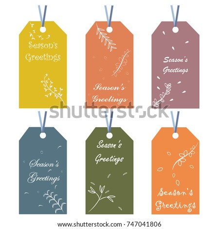 Collection holiday christmas gift card tags stock vector royalty collection of holiday christmas gift card tags printable holiday tags stamps stickers m4hsunfo