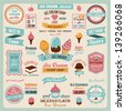 Collection of Ice Cream Design Badges and Labels.Vector Illustration - stock vector