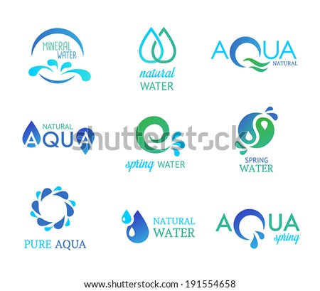 Collection of icons representing water and nature.