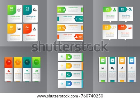 Collection of Infographic design template for presentation,Business 3d infographics,can be used for workflow layout, diagram, annual report, web design.banner,label. vector