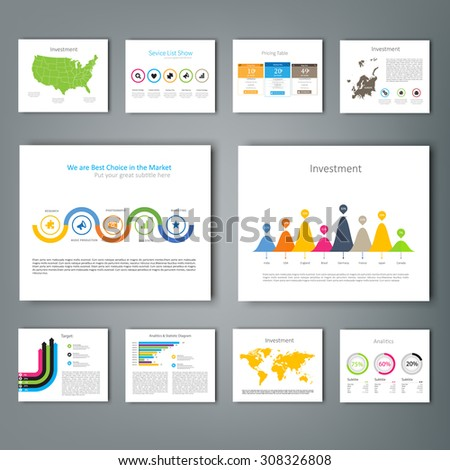 Collection of infographic Template , Infographic Element , Business infographic , Layout design , Modern Style , Vector design illustration. For your next project. - stock vector