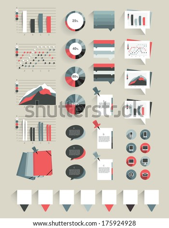 Collection of infographics elements.  - stock vector
