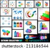 Collection of 18 Infographics for social media and clouds. Flat style UI design elements for your business projects, seo diagrams and solution ranking presentazions - stock vector