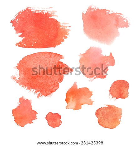 Collection of ink brushes/ black banners. Vector illustration - stock vector