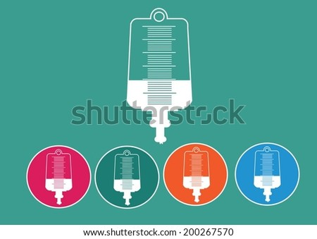 Collection of iv bag icon  - stock vector