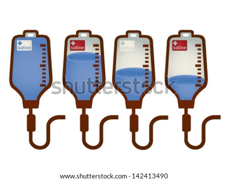Collection of iv bag - Vector File EPS10 - stock vector