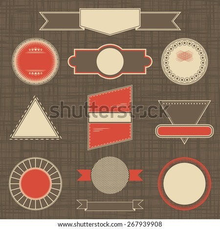Collection of labels. Set of templates for labels. Retro Vintage Design           - stock vector