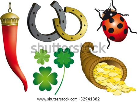 Collection of luck - stock vector