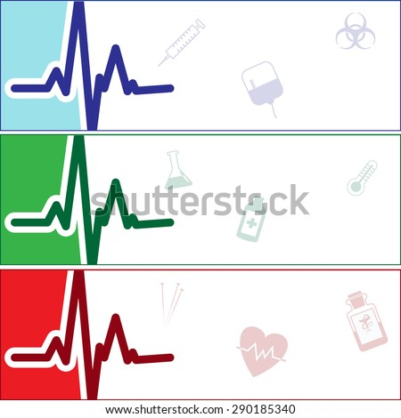 Collection of Medical banners. Vector Illustration, eps 10. - stock vector