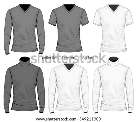 Collection of men's clothes. Vector illustration.