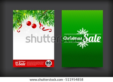 Collection of merry christmas coupon card banner promotion sale discount style vector illustration eps 10