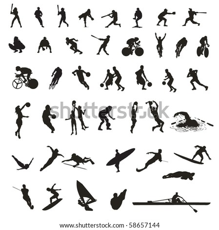 collection of mixed sports - stock vector