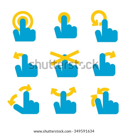 collection of mobile icons control. - stock vector