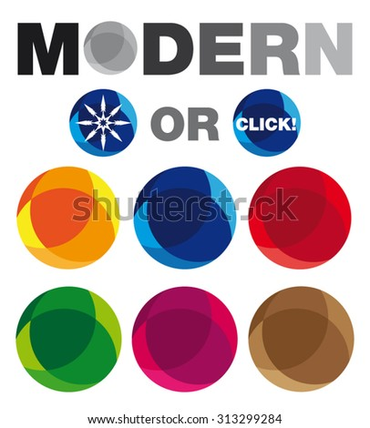 Collection Of Modern Circles. Can Be Used As Christmas Balls Or Web Buttons