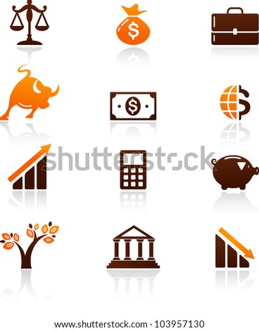 collection of money and finance icons - stock vector