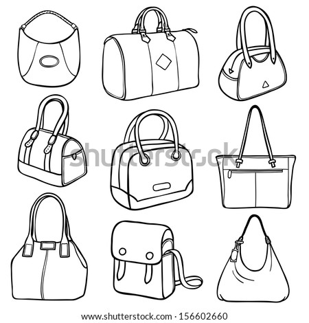 Beach Bag Accessories Coloring Pages