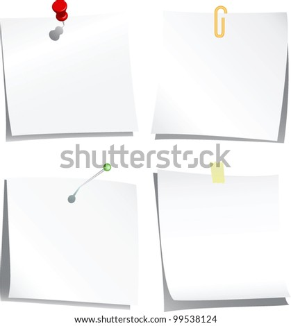 collection of note paper. vector illustration