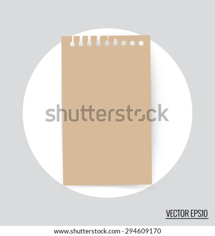Collection of note papers, ready for your message. Vector illustration. - stock vector