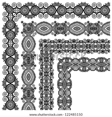 collection of ornamental floral vintage frame design. All components are easy editable - stock vector