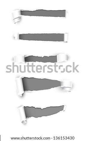 Collection of paper. Vector illustration
