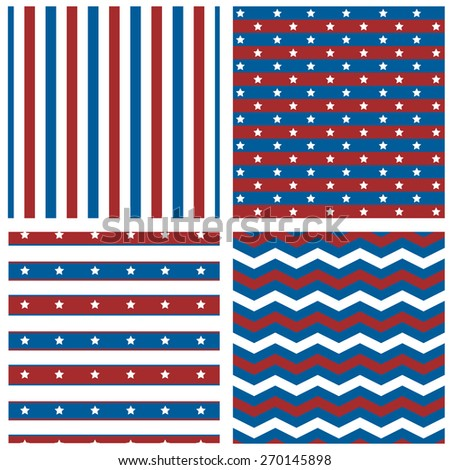 Collection of patriotic patterns - stock vector