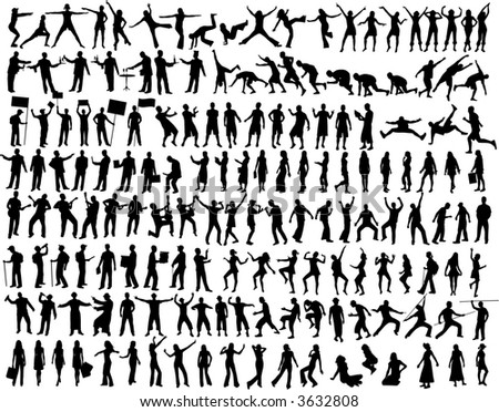 Collection of People Silhouettes 158