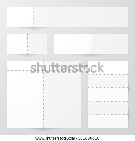collection of perforated paper designs. vector. - stock vector