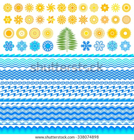 Collection of pictures - stock vector