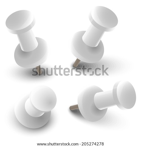 Collection of pins  - stock vector