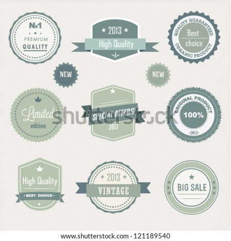 Collection of Premium Quality - stock vector