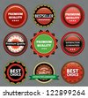 Collection of Premium Quality and Guarantee Labels. eps 10 - stock photo