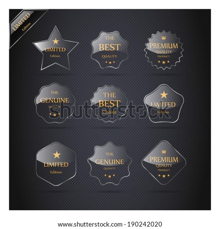 Collection of Premium Quality Labels. - stock vector