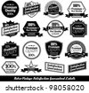 Collection of premium quality Labels with retro design - stock vector