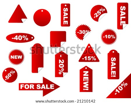 collection of price labels and tags - vector image