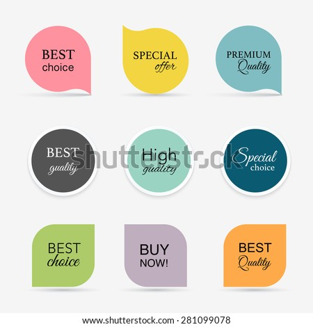 Collection of promo seals/stickers. Isolated vector illustration - stock vector
