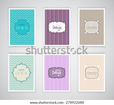 Collection of retro design templates - stock vector