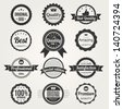 Collection of Retro Premium Quality Labels - stock vector
