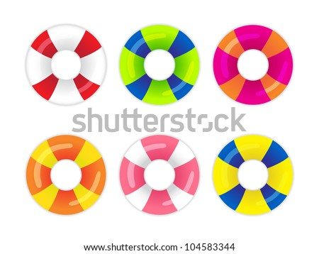 Collection of safety rings on a white background - stock vector