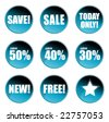 Collection of Sale Badges - stock vector
