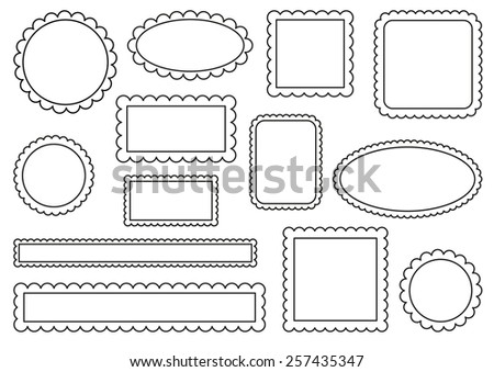 Collection of scalloped frames