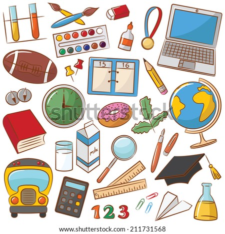 Collection of school & education icons