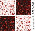 Collection of Seamless Chili Pepper wallpaper. Vector Illustration - stock vector
