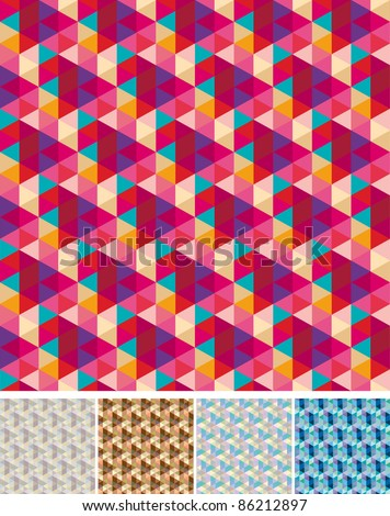 Collection of seamless patterns - stock vector