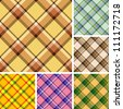 Collection of seamless plaid patterns. Volume 15 - stock photo