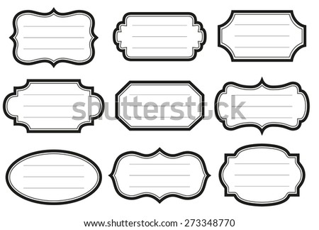 Collection of simple vintage labels - stock vector