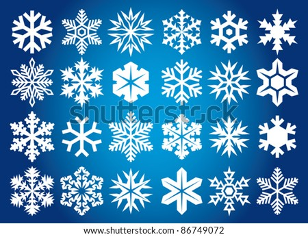 Collection of snowflakes - stock vector