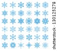 collection of 36 snowflakes vector - stock photo
