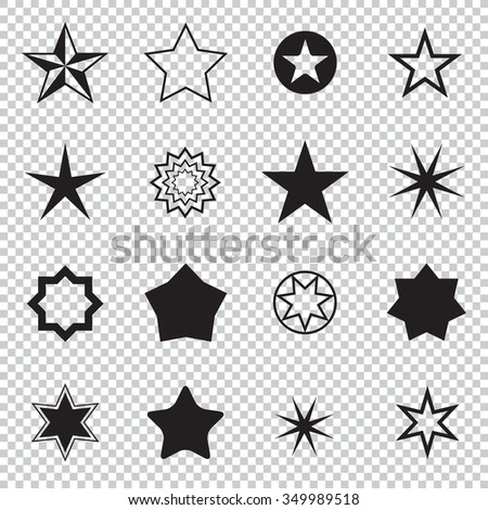 Collection of sparkle vector icons. Sparkling stars symbols. Easy to use. - stock vector